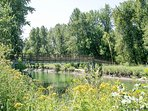 Waterfront Park in downtown Leavenworth for walking, swimming, tubing, kayaking and more