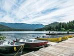 Get your fish on.  Head to the Cove at Fish Lake and rent a pontoon party barge or aluminum fishing boat for a...