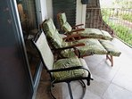 Relax on lounge chairs on laai