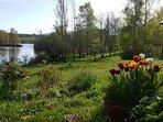 Le lac et chalets du Roussinas.