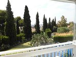 Fuengirola in the distance from garden & Terrace.
