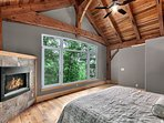 Master bedroom with gas fireplace.
