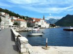 The historic village of Perast - across the bay