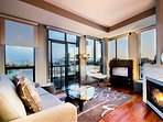 Living room looking South West at Inner Harbour