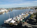 Catch a water taxi just outside your door and visit Fisherman's Wharf