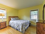 Catch up on some sleep in this delightful master bedroom