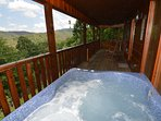 Hot tub on upper deck...