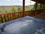 Hot tub showing view...