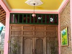 Griya Rama Shinta, consists of spacious living room, private outdoor bathroom and kitchen