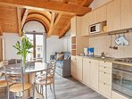 Residence Domaso, two-bedroom apartment, the kitchen's details.