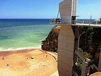 Albufeira's beach-Peneco at day