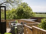 Private enclosed & gated patio with dining for 6. Beautiful views to the Preseli Hills