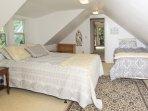 2nd floor guest bedroom with queen and twin beds