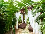 In our residence: massage in tropical garden