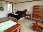 Very comfortable king size bed and special mesquite furniture