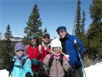 Family on Snow Shoe Outing in Nearby Mt Evans Wilderness Area