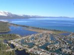 The Tahoe Keys is very unique, and the waterways that back the homes lead out to the main part of Lake Tahoe