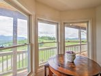 Enjoy lunch with a view through the 3-pane bay window.