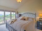 The king guest bedroom features a deck walk-out.