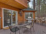 There's plenty of space for outdoor dining and cocktails on the deck, and a gas grill for great Tahoe barbeques