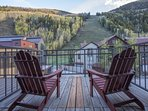 Pick out the skiers on the slopes from the Master Bedroom balcony.