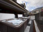 The two shared outdoor hot tubs for the Cimarron units. Don't forget your suit!
