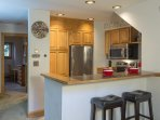 The kitchen features brand new appliances, because the details matter.