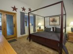 The Master Bedroom features its own private deck as well.