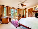 The entire floor is devoted to Master Bedroom #1 (king bed) and its private bathroom.