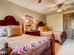 Guest Bedroom #3 sleeps 4 in its two queen beds.