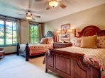 Lots of natural light comes in through the windows of Guest Bedroom #3.