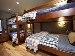This unique Guest Bedroom #3 has two full bunks, and sleeps a total of 8 people!