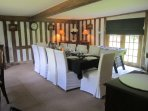 Dining Rooms - Seats upto 10, High Chair available