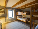 Bedroom 5 (Two sets of bunk beds, sleeps 4, suitable for adults).