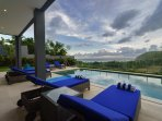 Pool deck and view