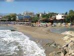 Local sandy beach