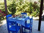 A feast on the terrace! Taken by guests Robin and Diana Letchford.