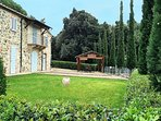 In front of the Tuscany villa