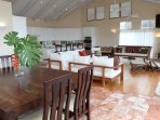 Open kitchen design leads to main living room. Fully equipped with large island, 2 dishwashers & ovn