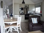 Open plan kitchen and dinning area