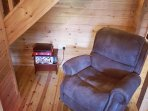 living room recliner chair record player