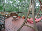 Beautiful Deck Overlooks The Pond