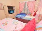 Bedroom 3 showing flatscreen TV