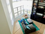 The open loft style floor plan has visual privacy, families can be together but with lots of space.