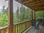 In pleasant weather, head out to the deck and grill out.