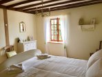 King size bedroom 2 with peaceful garden views