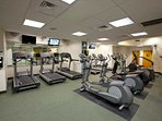 Cardio room within the apartment complex