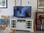 Large screen smart TV and HD programming for your enjoyment