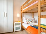 With full size bunk-beds the twin room is also great for older children or adults.
