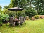 Private enclosed garden, perfect for a summer al fresco breakfast, lunch or dinner.
